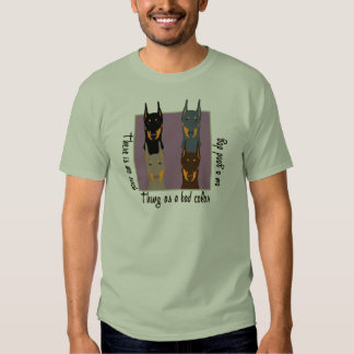 Doberman colors tee shirt