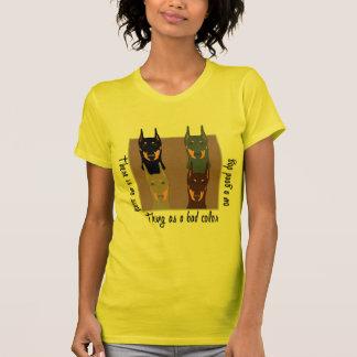 Doberman colors tee shirts