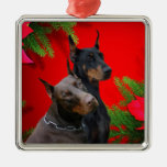 Doberman Couple Ornament