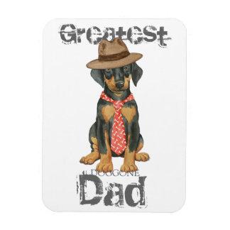 Doberman Dad Rectangular Photo Magnet