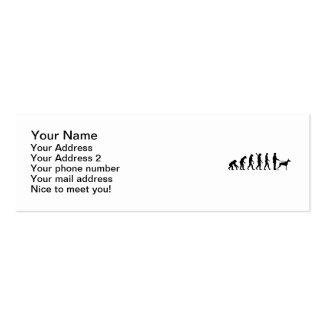 Doberman de la evolución tarjetas de visita mini