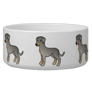 Doberman del cervatillo/perro alemán del Pinscher Comedero Para Mascota