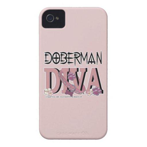 Doberman DIVA Case-Mate iPhone 4 Cases