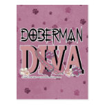 Doberman DIVA Postcard
