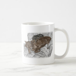 Doberman Dog and Puppy Coffee Mug
