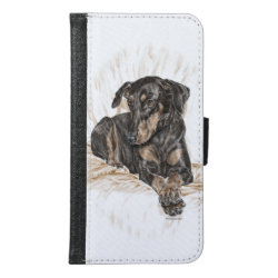 Doberman Dog Natural Ears for Keys Wallet Phone Case For Samsung Galaxy S6
