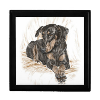 Doberman Dog Natural Ears Gift Box