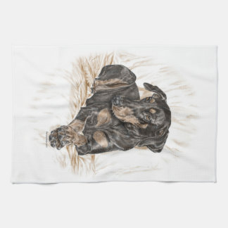 Doberman Dog Natural Ears Kitchen Towel