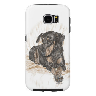 Doberman Dog Natural Ears Samsung Galaxy S6 Case