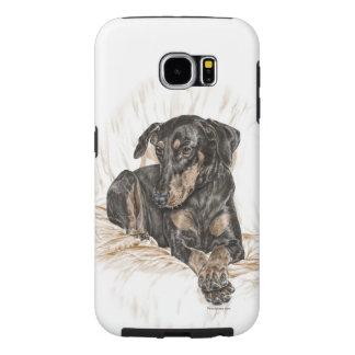 Doberman Dog Natural Ears Samsung Galaxy S6 Cases