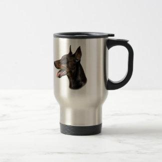 Doberman Dog Painting Travel Mug
