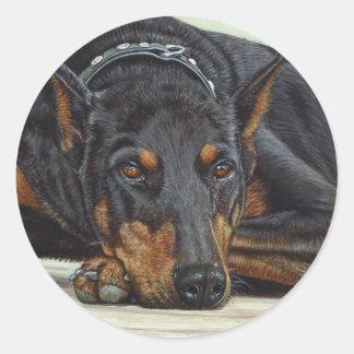 Doberman Dog Sticker