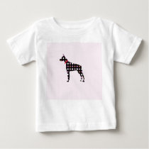 Doberman Dots Pattern Baby T-Shirt
