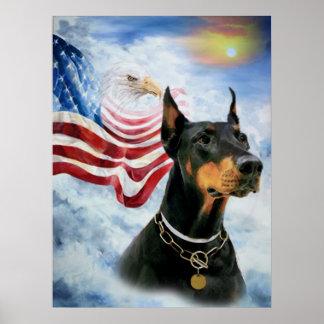 Doberman Eagle Poster