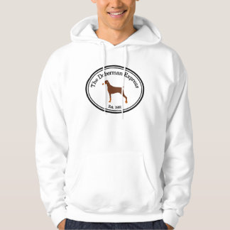 Doberman Express Uncropped Red-Coated Hoodie