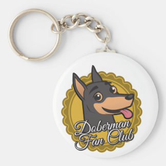 Doberman Fan Club Keychain