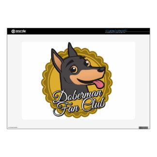 """Doberman Fan Club Skin For 15"""" Laptop"""