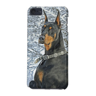 Doberman Frosty Day iPod Touch 5G Cases