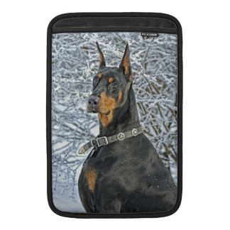 Doberman Frosty Day Sleeves For MacBook Air
