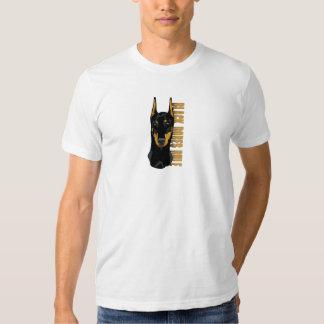 Doberman Head, Black Dobes Rule T Shirts