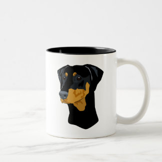 Doberman Head, Black, Uncropped Coffee Mug