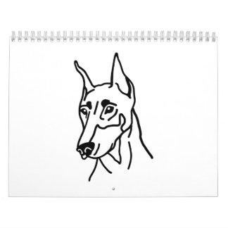Doberman head calendar