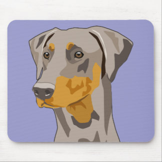 Doberman Head, Fawn, Uncropped Mouse Pad