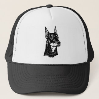 DOBERMAN HEAD TRUCKER HAT