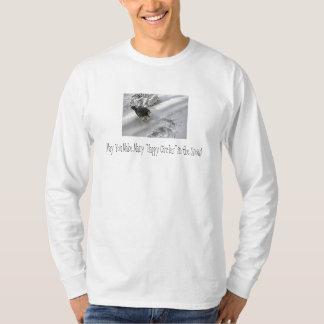Doberman Holiday Bliss Happy Circle Snow T-Shirt