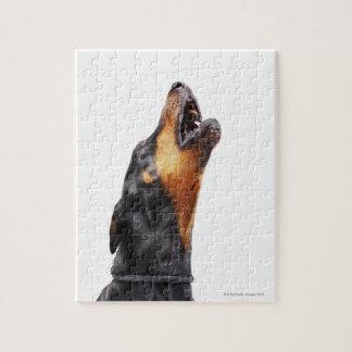 Doberman howling jigsaw puzzle