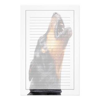 Doberman howling stationery