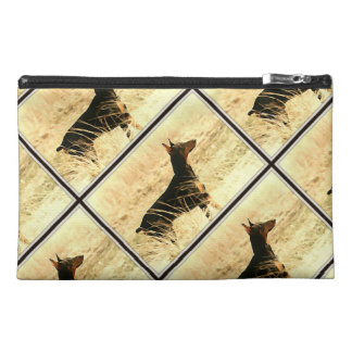 Doberman in Dry Grass Painting Image Travel Accessories Bags