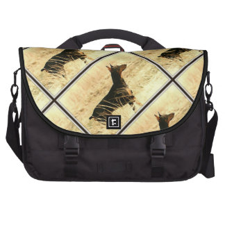 Doberman in Dry Grass Painting Image Commuter Bags