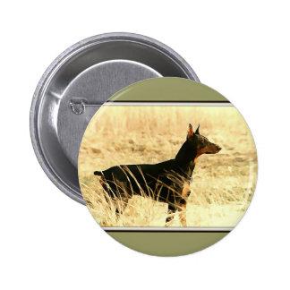 Doberman in Dry Reeds Painting Image Pin
