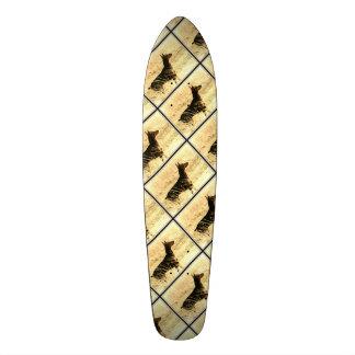 Doberman in Dry Reeds Painting Image Skateboards