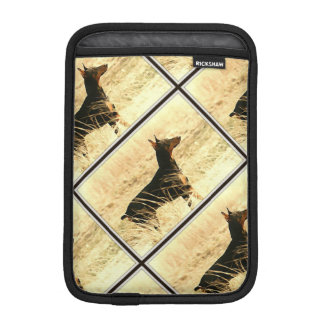 Doberman in Dry Reeds Painting Image Sleeve For iPad Mini