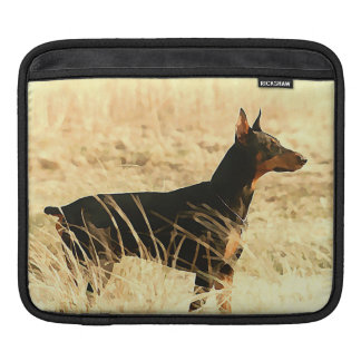 Doberman in Dry Reeds Painting Image Sleeve For iPads