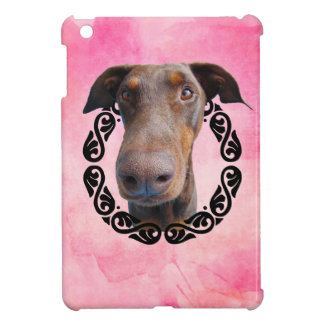 Doberman in frame case for the iPad mini