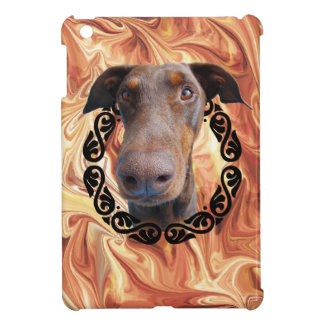 Doberman in frame iPad mini cases