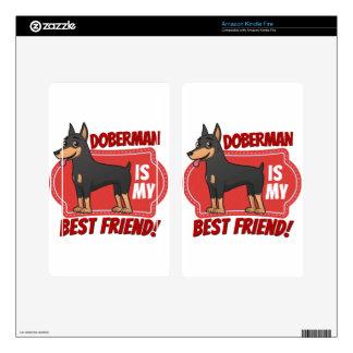 Doberman is my best friend kindle fire skin
