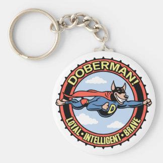 ¡Doberman! Llavero Redondo Tipo Pin