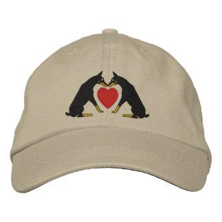 Doberman Love Embroidered Ball Cap