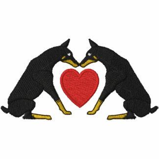 Doberman Love Ladies Long Sleeve T