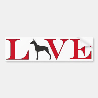 Doberman Lover Bumpersticker Bumper Sticker