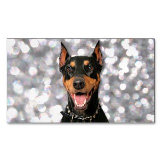 Doberman - Megyan Business Card Magnet