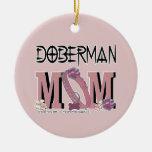 Doberman MOM Christmas Ornament