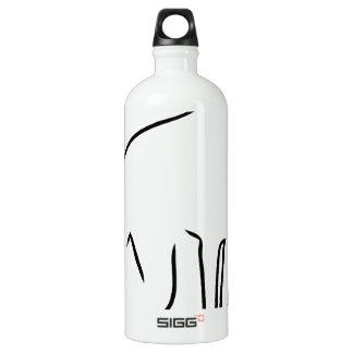 Doberman Outline Aluminum Water Bottle