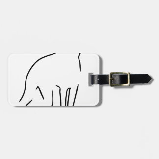 Doberman Outline Tag For Luggage