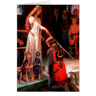 Doberman Pair - The Accolade Greeting Card