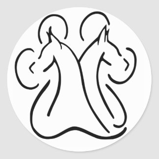 Doberman Paw Classic Round Sticker